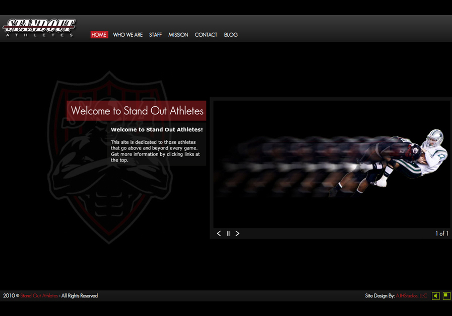 A great web design by AJH Studios, LLC, Ironton, OH: