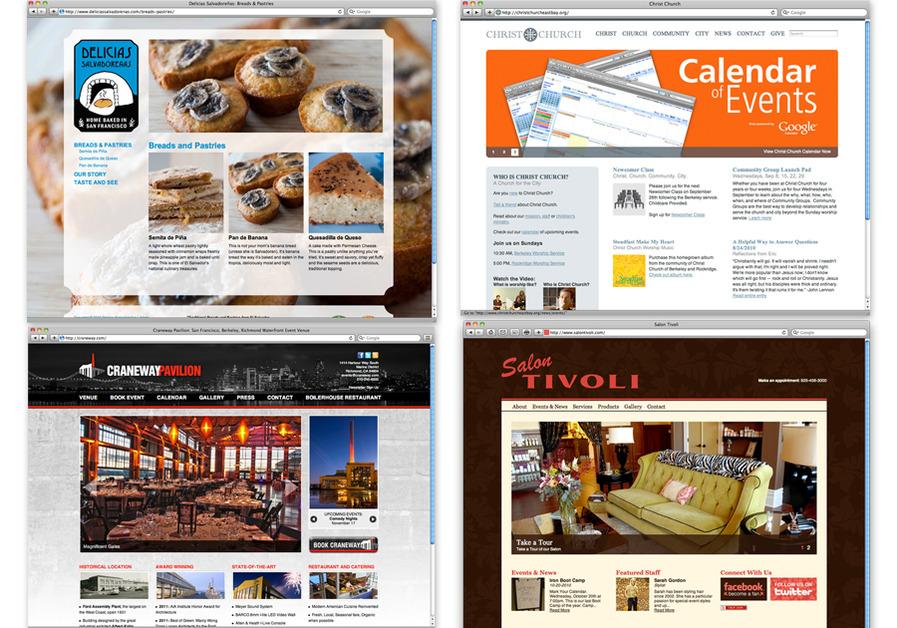 A great web design by Mazzarello Media and Arts, Oakland, CA: