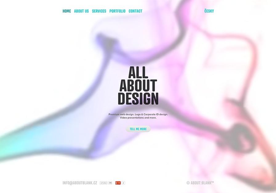 A great web design by about:blank, Prague, Czech Republic: