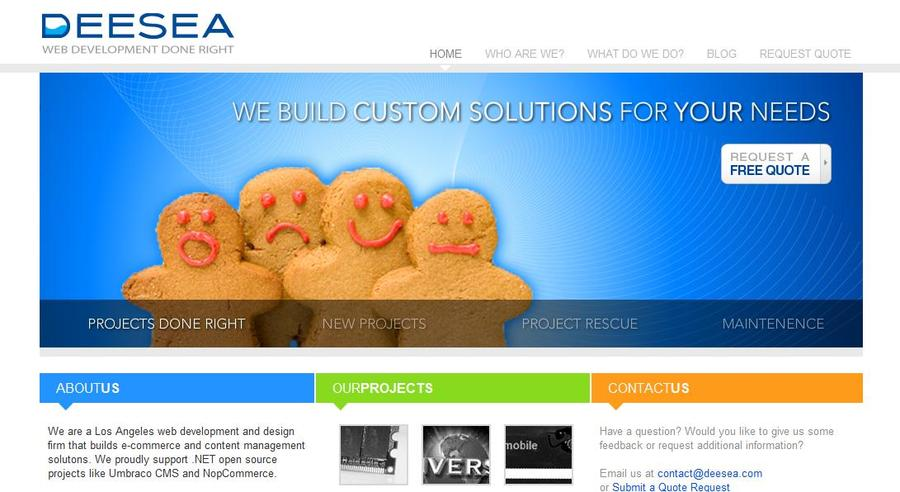 A great web design by Deesea Web Development, Los Angeles, CA: