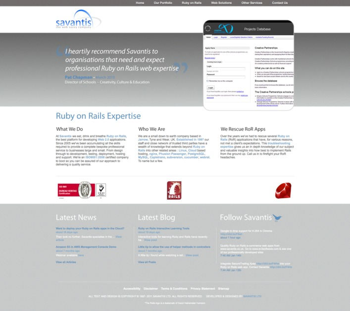 A great web design by Savantis Ltd, Newcastle, United Kingdom: