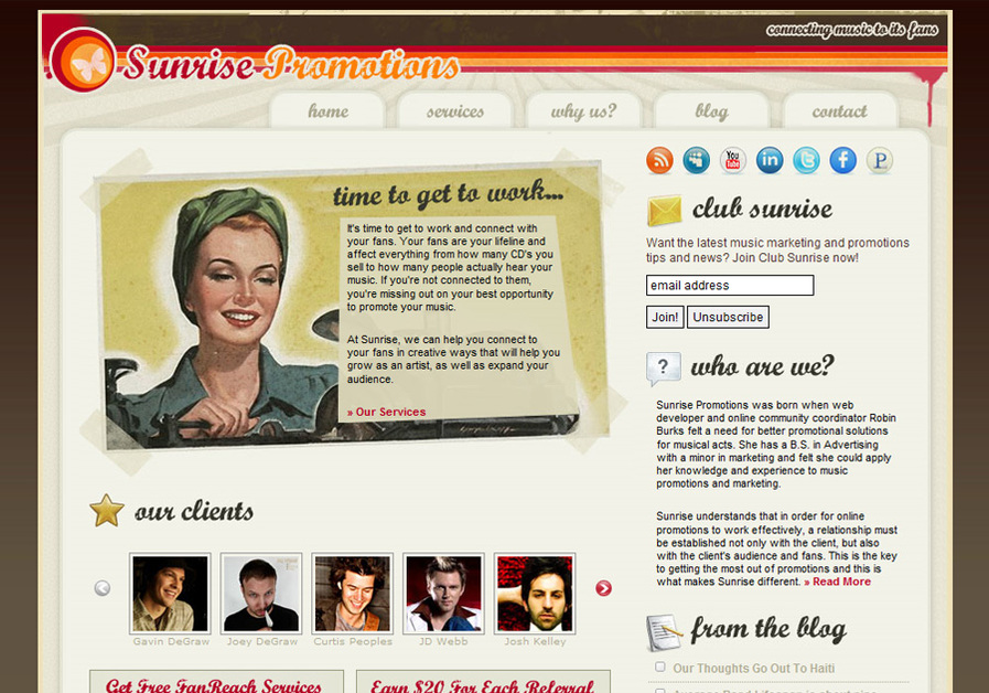 A great web design by Robin Burks, Memphis, TN: