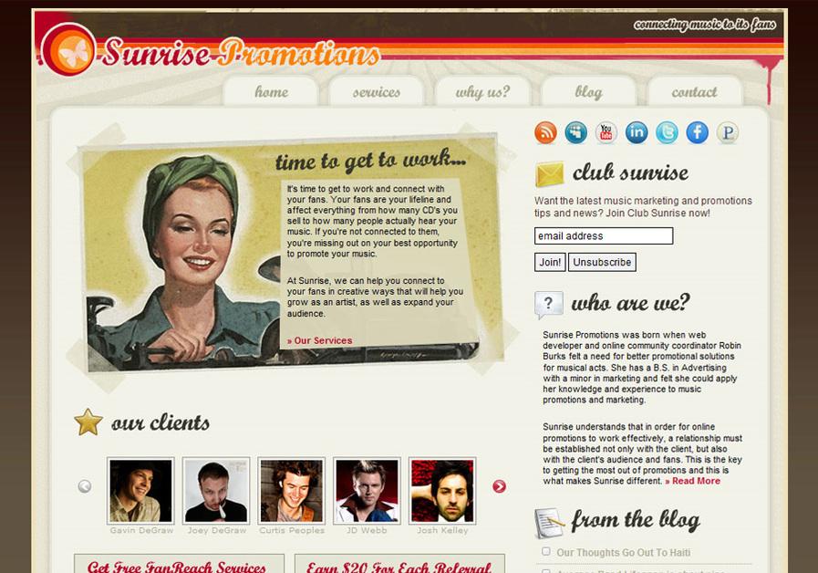 A great web design by Robin Burks, Memphis, TN: