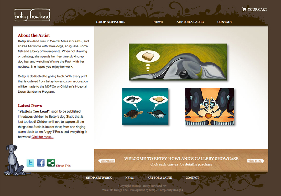 A great web design by Simple Complexity Designs, Boston, MA: