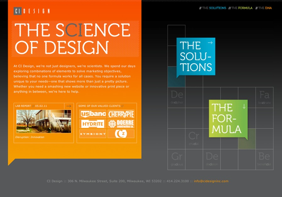 A great web design by CI Design, Milwaukee, WI:
