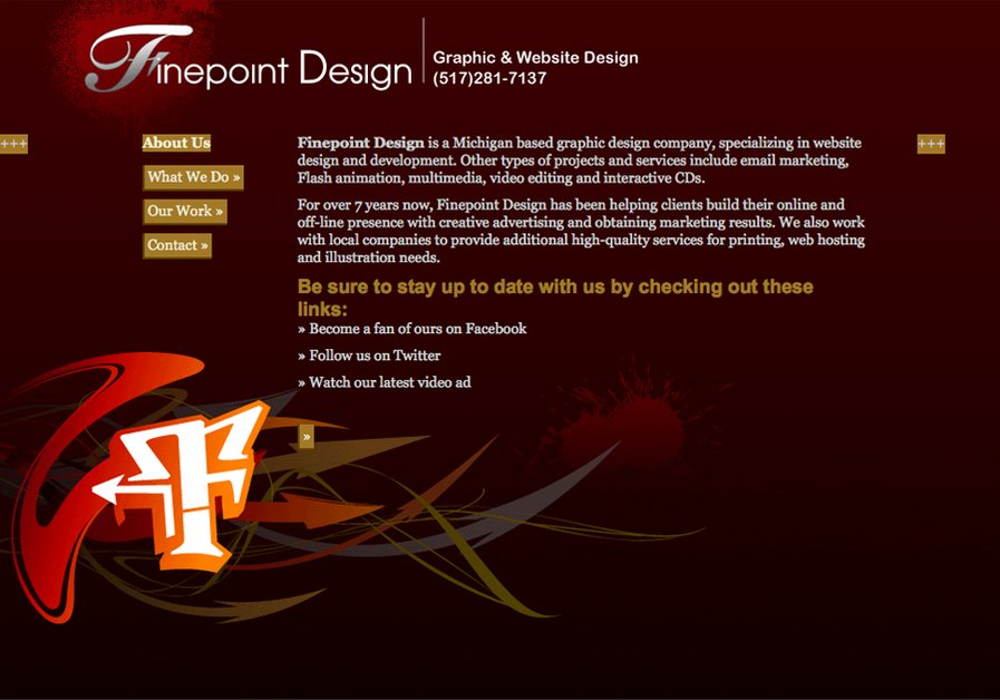 A great web design by Finepoint Design, Lansing, MI: