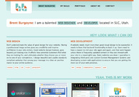 A great web design by Brent Burgoyne, Salt Lake City, UT: