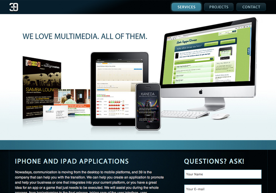 A great web design by 39 Inc., Miami, FL:
