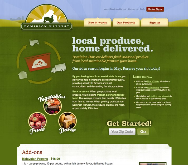 A great web design by Top Dead Center Design, Richmond, VA: