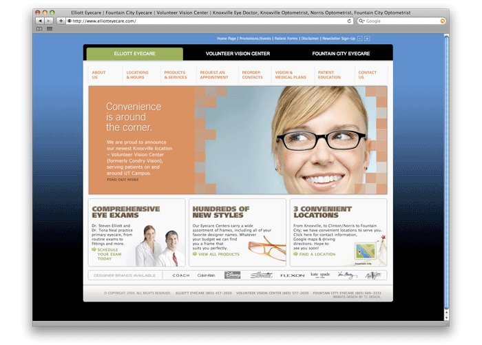A great web design by T2 Design, Knoxville, TN: