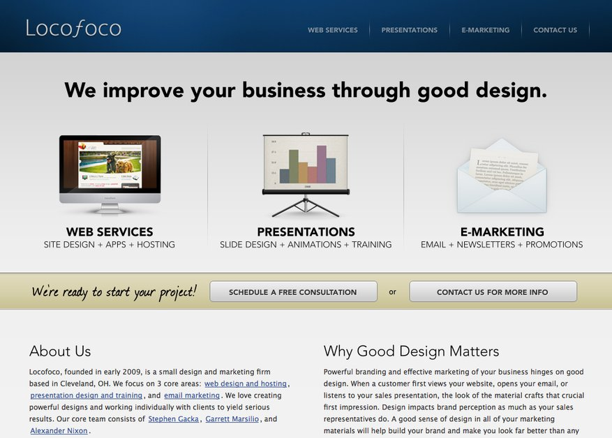 A great web design by Locofoco , Cleveland, OH: