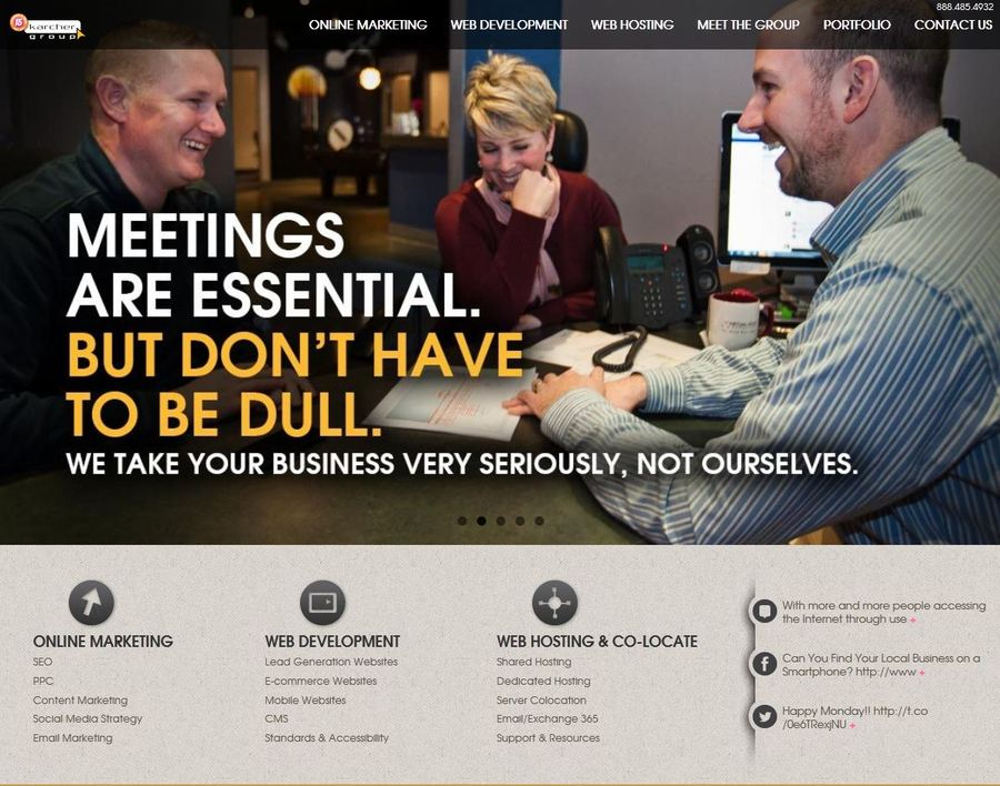 A great web design by The Karcher Group (TKG), North Canton, OH: