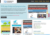 A great web design by TD Internet Services, Ljubljana, Slovenia: