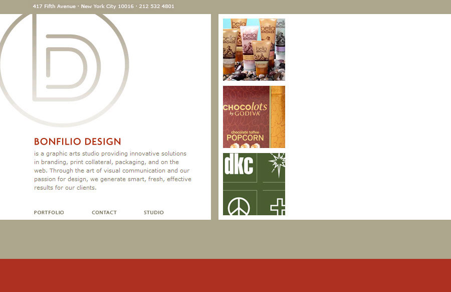 A great web design by Bonfilio Design, New York, NY: