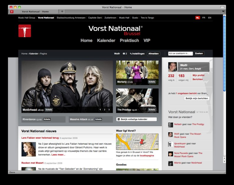 A great web design by Netlash, Gent, Belgium: