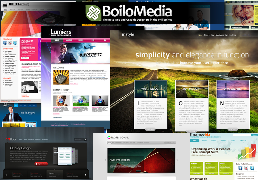 A great web design by BoiloMedia, Manila, Philippines: