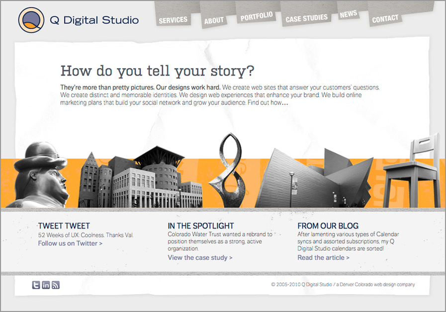 A great web design by Q Digital Studio, Denver, CO:
