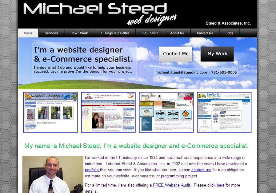 A great web design by Steed & Associates, Inc., Memphis, TN: