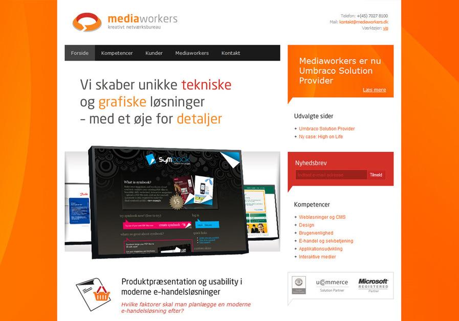 A great web design by Mediaworkers ApS, Aarhus, Denmark: