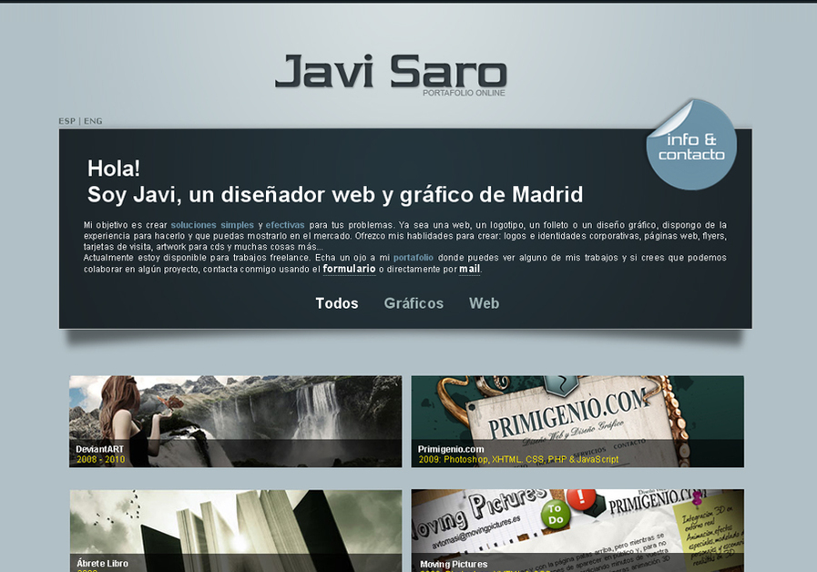 A great web design by Javi Saro, Madrid, Spain: