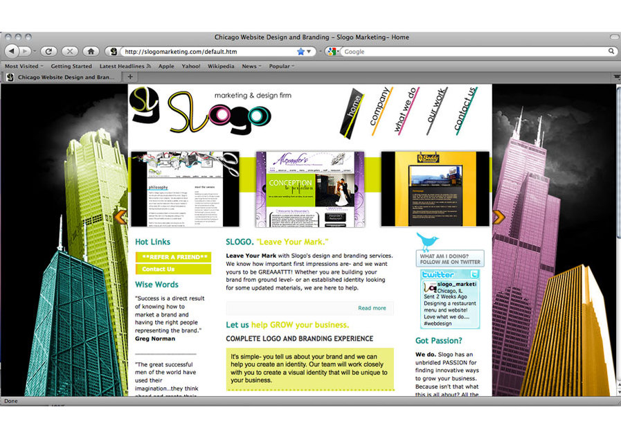 A great web design by Slogo Marketing, Chicago, IL: