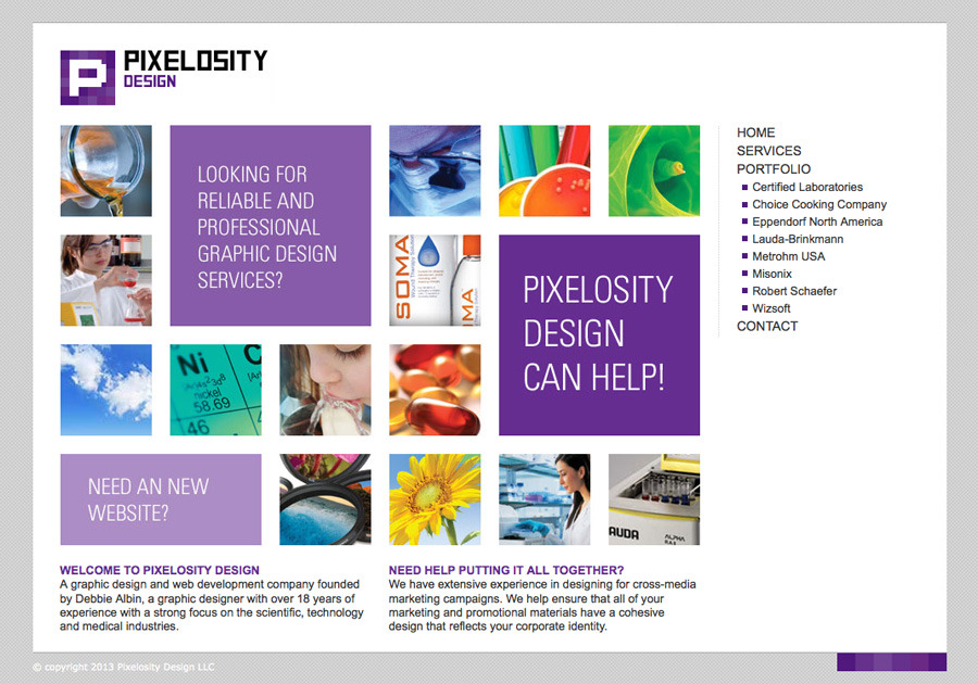 A great web design by Pixelosity Design LLC, New York, NY: