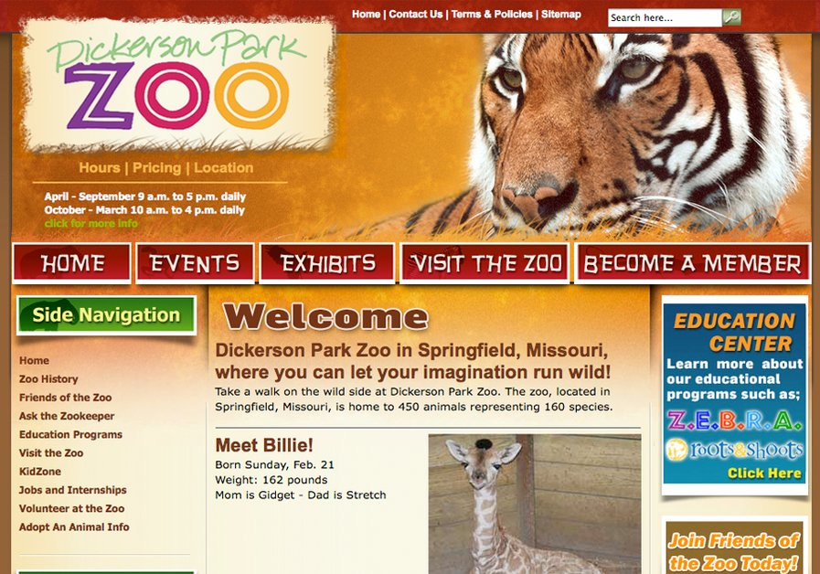 A great web design by dotDIGITAL Studios, Springfield, MO: