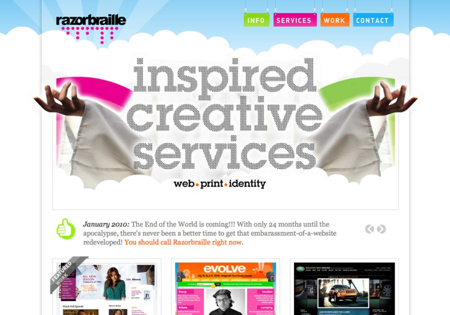 A great web design by Razorbraille Creative Inc., Toronto, Canada: