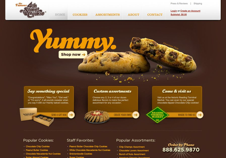 A great web design by Singularity Design, Philadelphia, PA:
