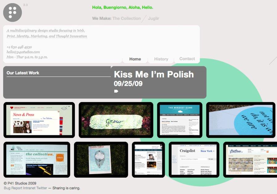 A great web design by P41 Studios, Chicago, IL: