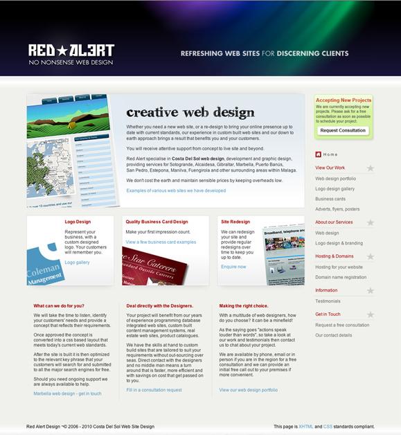 A great web design by Red Alert Web Design, Marbella, Spain: