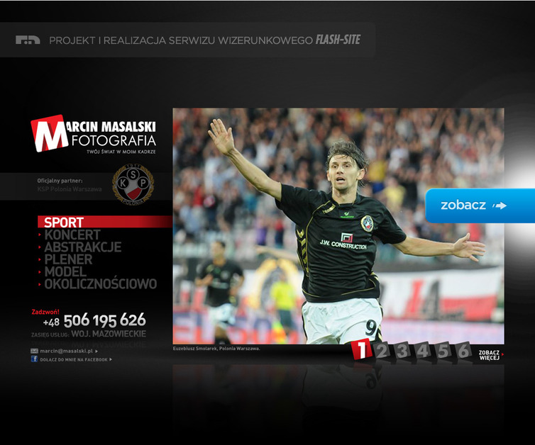 A great web design by Radianactive Design, Warsaw, Poland: