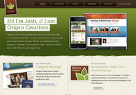 A great web design by Origen Creatives, Eugene, OR: