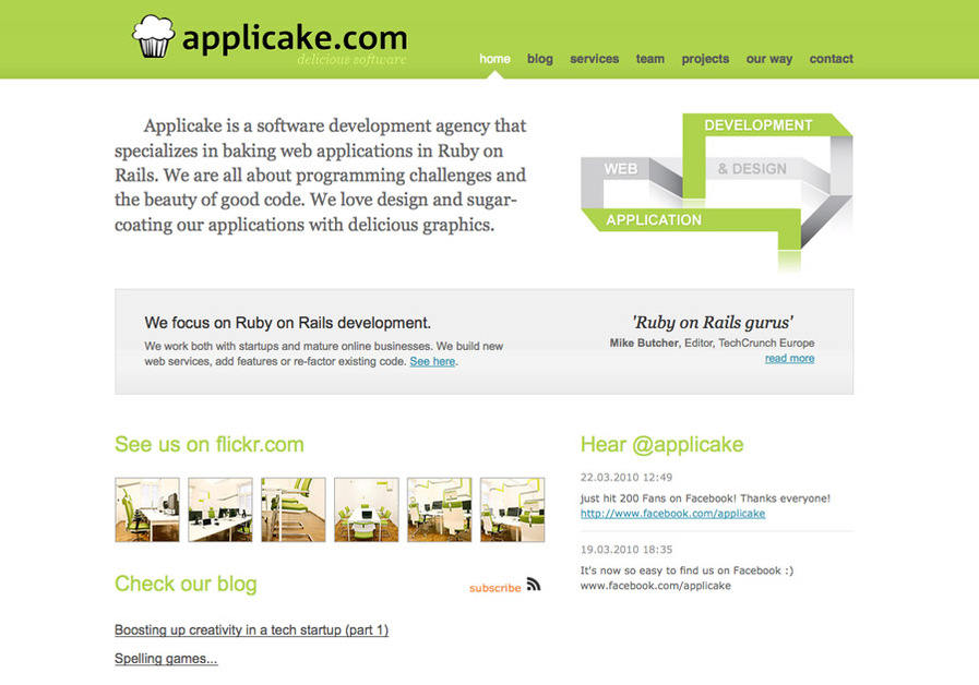 A great web design by Applicake, Krakow, Poland: