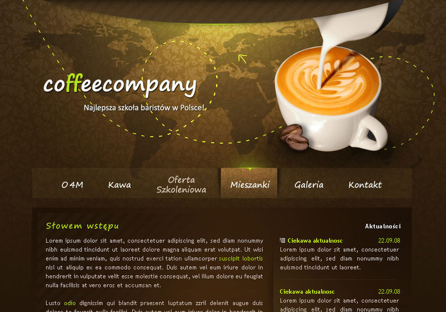 A great web design by Sansana Design, Warsaw, Poland: