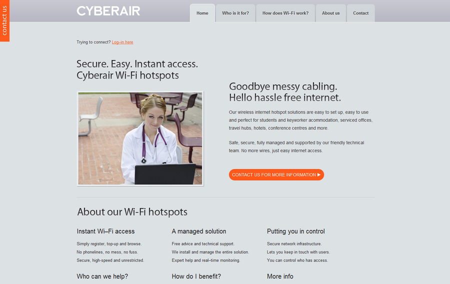 A great web design by Cyberware, Peterborough, United Kingdom: