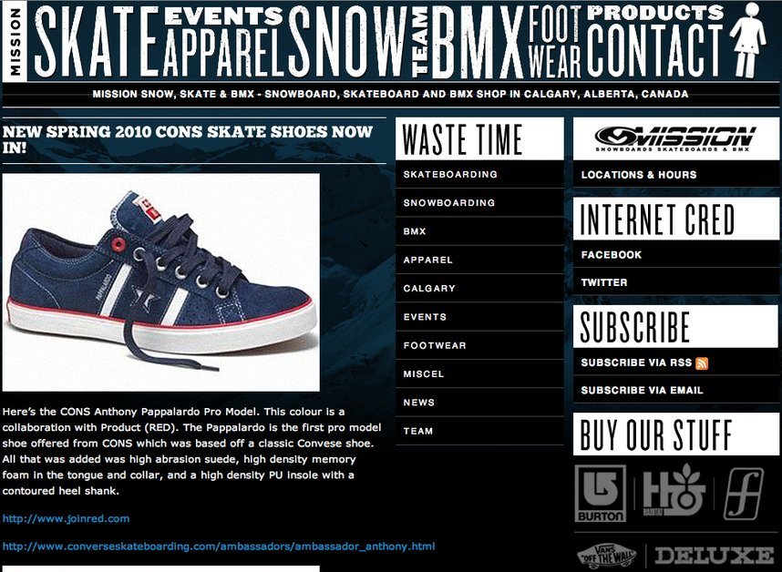A great web design by ClickSpace, Calgary, Canada: