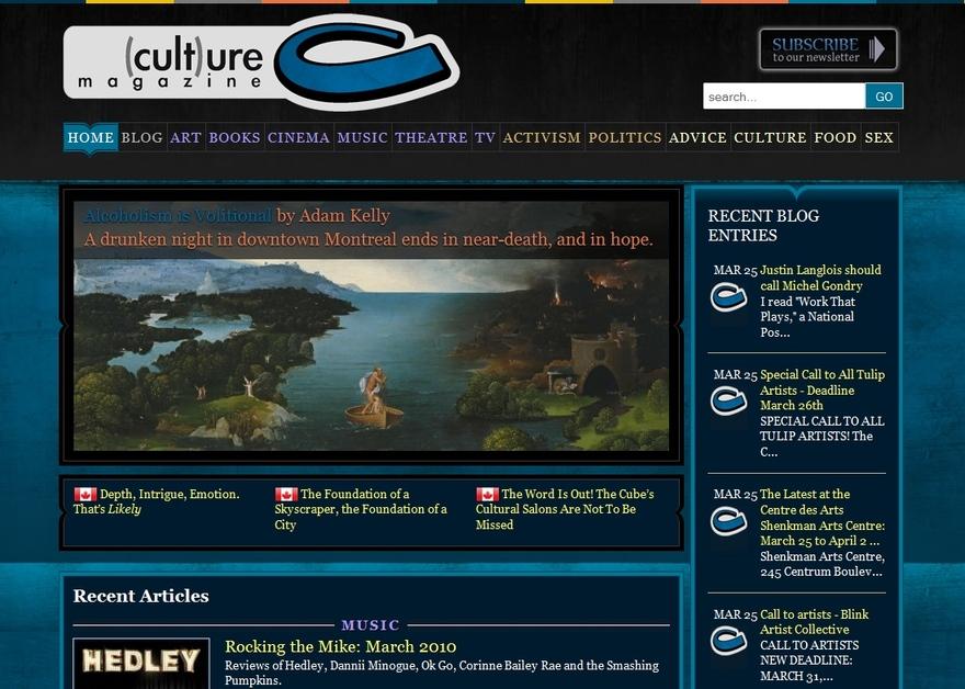 A great web design by Xyfex Media, Ottawa, Canada: