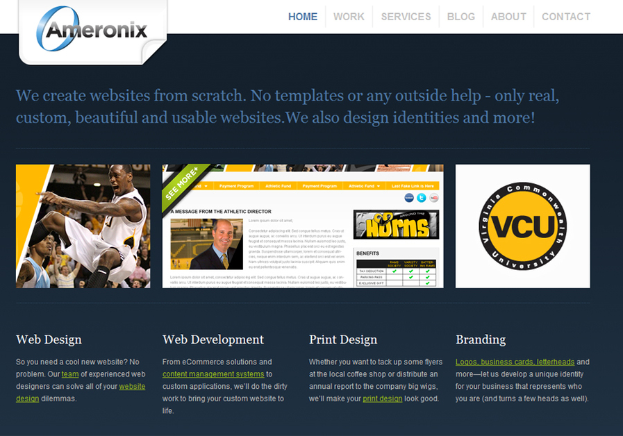 A great web design by Ameronix, Richmond, VA: