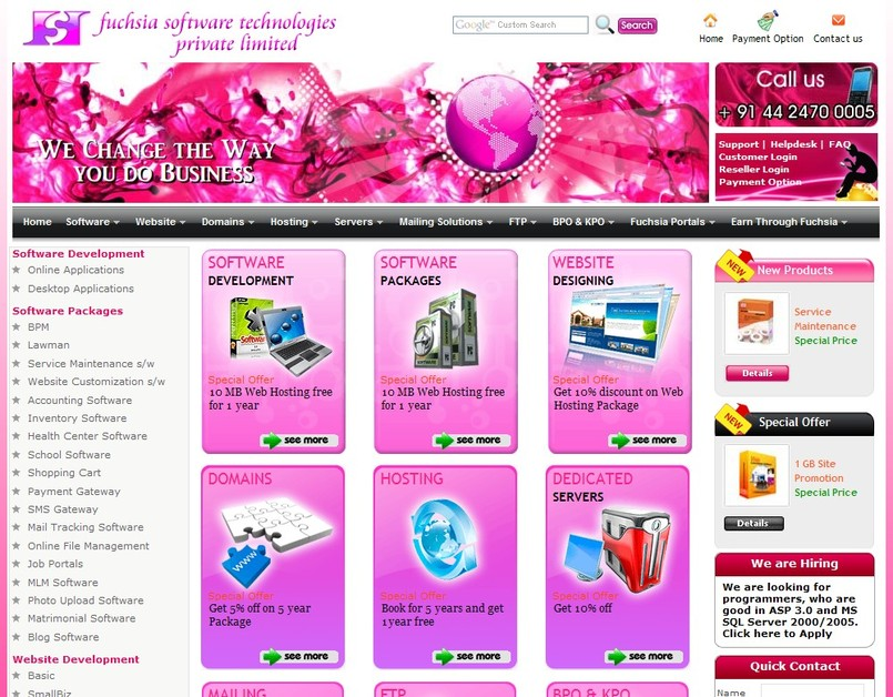 A great web design by Fuchsia Software Technologies Private Limited, Chennai, India: