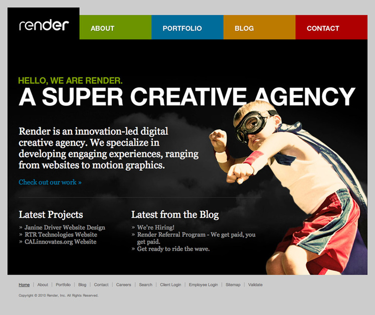 A great web design by Render, Baltimore, MD: