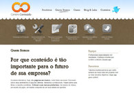 A great web design by Contém Conteúdo, Rio de Janeiro, Brazil: