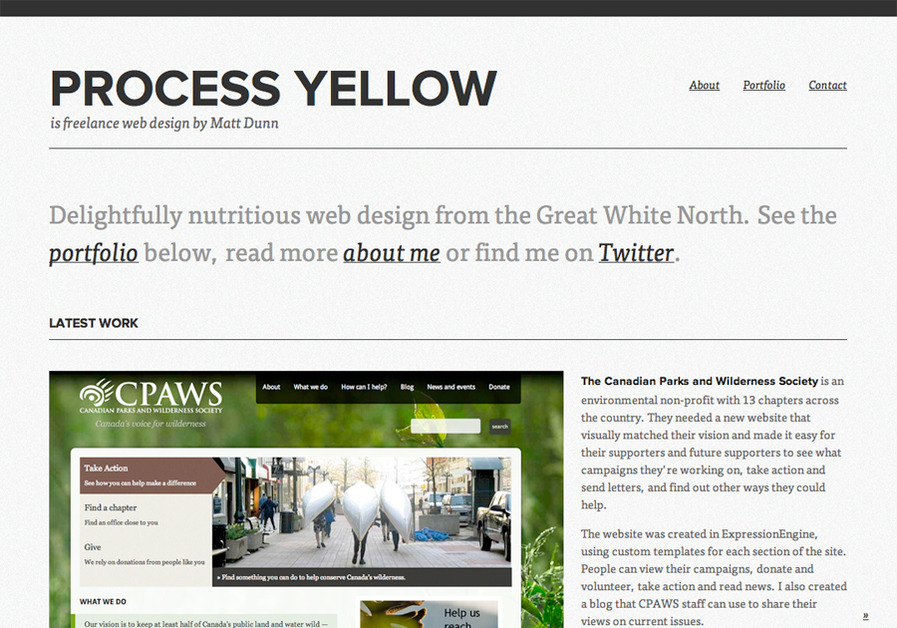 A great web design by Process Yellow, Toronto, Canada: