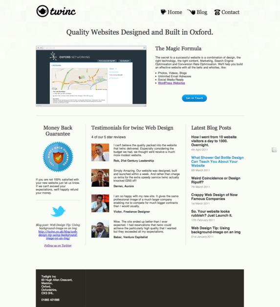 A great web design by Twilight Incubation, Oxford, United Kingdom: