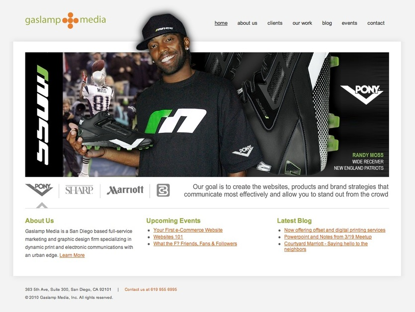 A great web design by Gaslamp Media, Inc., San Diego, CA: