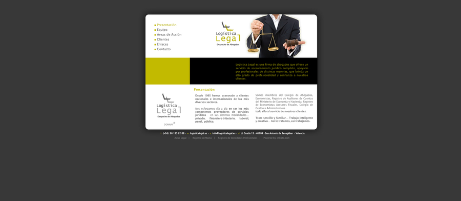 A great web design by inkieto.com, Valencia, Spain: