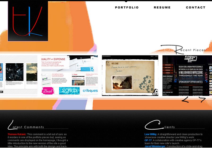 A great web design by Thomas Katavic, New York, NY: