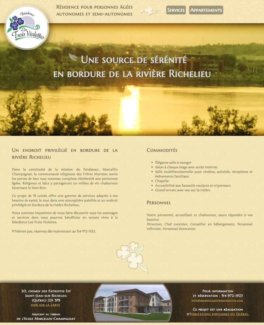 A great web design by Genevieve Dupuis Design, Quebec, Canada: Responsive Website, Marketing Website , Construction , Static HTML