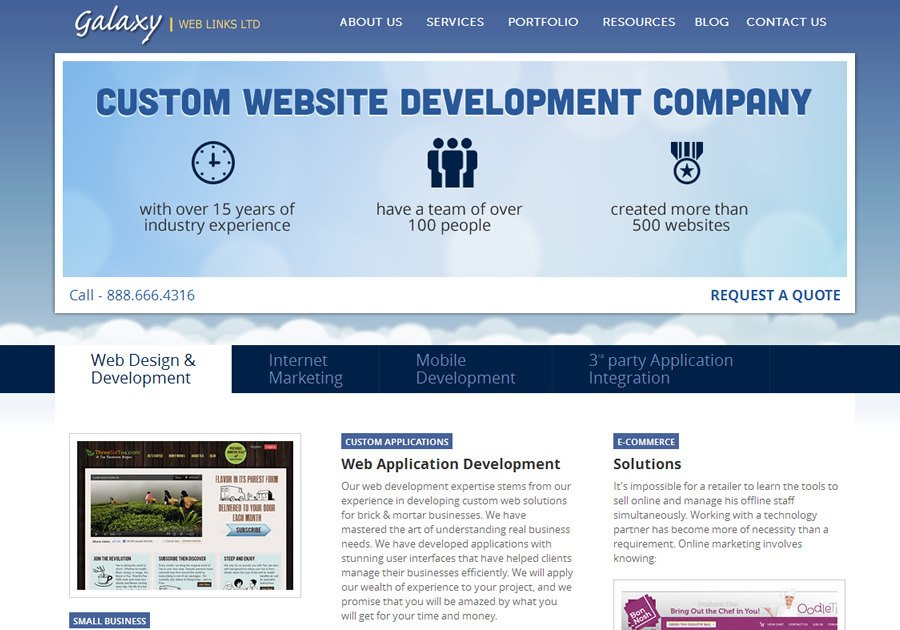 A great web design by Galaxy Weblinks, Boston, MA: