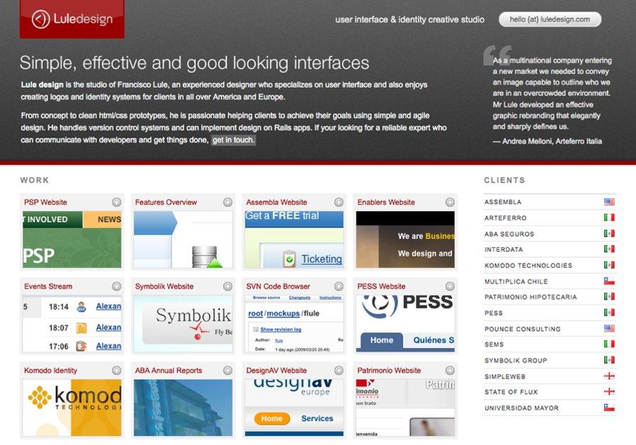 A great web design by Lule design, Monterrey, Mexico: